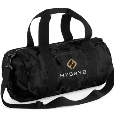 Hybryd Black Camo Bag