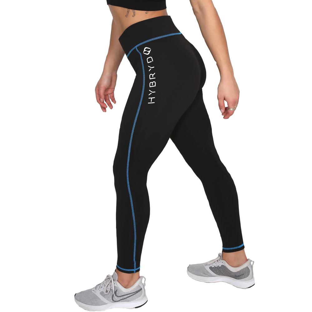 Hybryd Fitness Legging - Black/Sapphire
