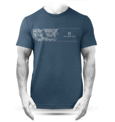 Hybryd Hex-Strip T - Heather Navy