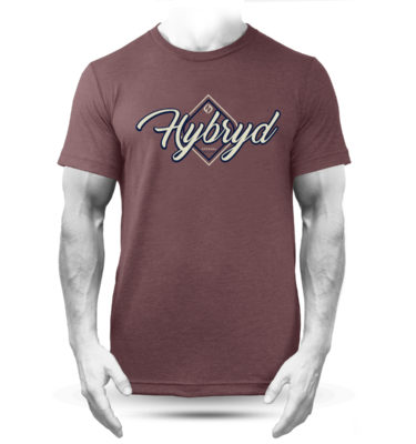 Hybryd Flow Logo T - Heather Maroon