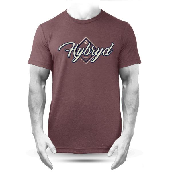 Hybryd Flow Logo T - Heather Maroon