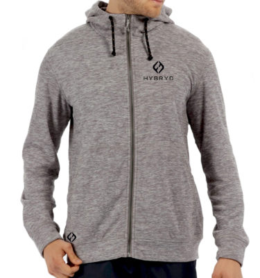 Mens Rock Zip Thru - Grey Marl