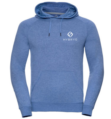 Mens Icon Pull Over Hood - Sky