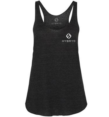Hybryd Tri blend Logo Vest - Black