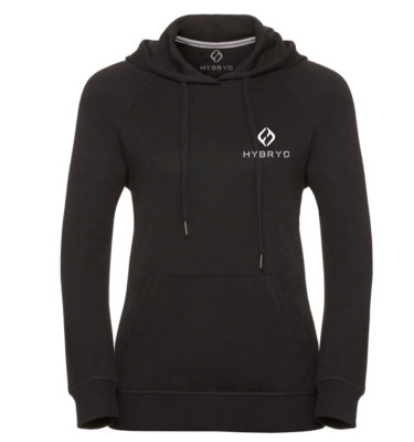 Hybryd Ladies Icon Pullover Hood - Black