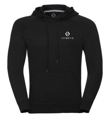 Mens Icon Pull Over Hood - Black
