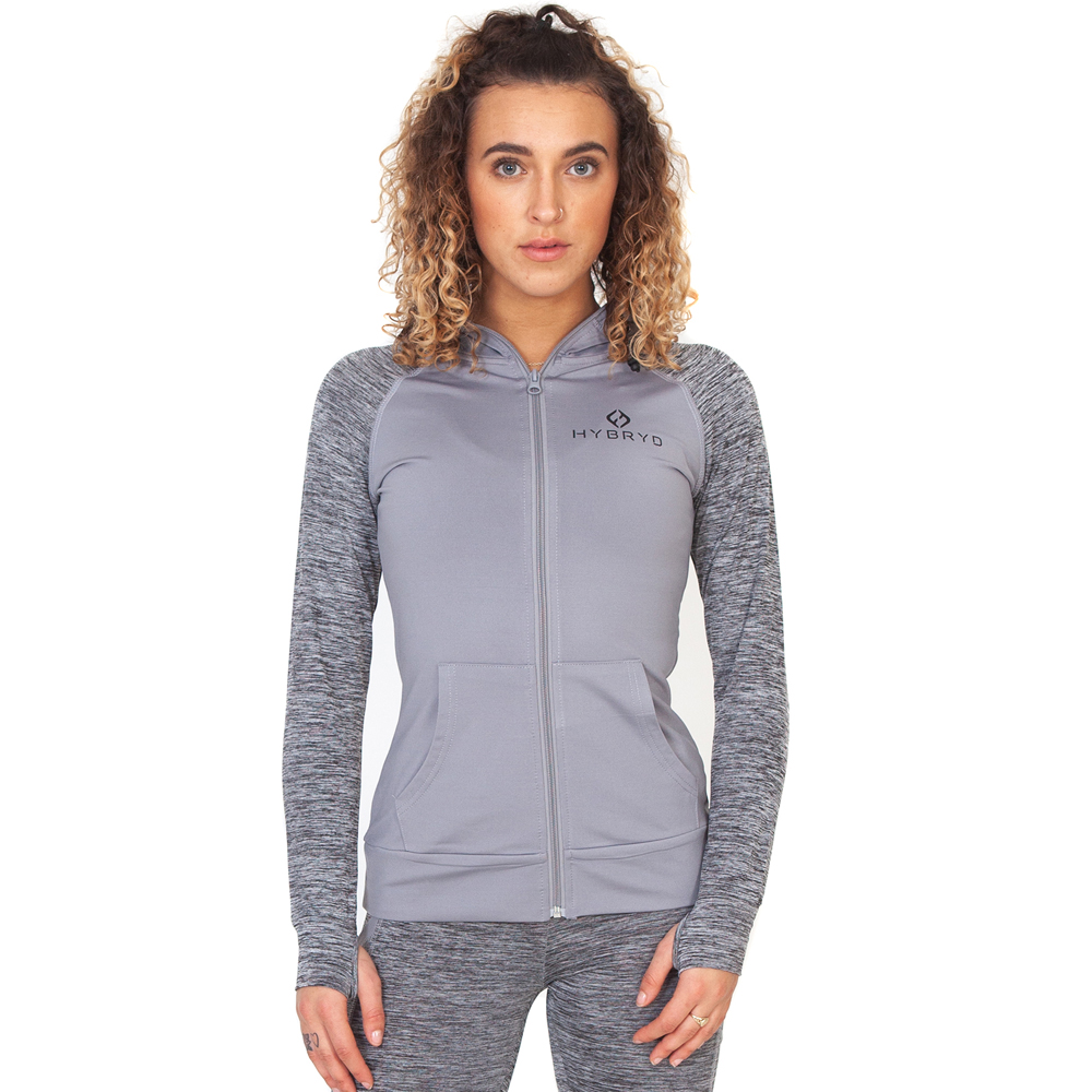 Hybryd Performance Track Top - Grey