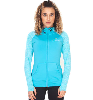Hybryd Performance Track Top - Pacific