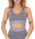 Hybryd Pulsar Sports Bra - Grey