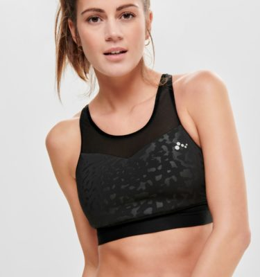 Only Play Mau Black Sports Bra