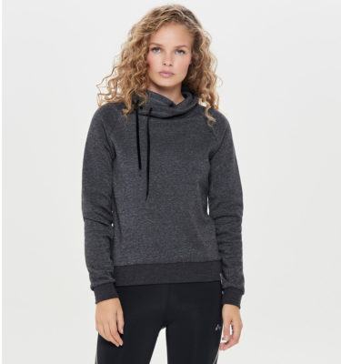 Only Play Seka Drawstring Sweat - Dark Grey Melange