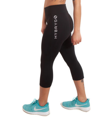 Hybryd Fitness Crop Legging - Black