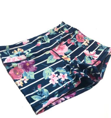 Hybryd Floral Stripe Booty Short