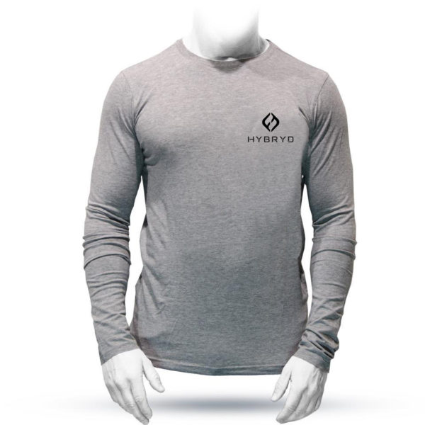 Icon Long Sleeve Stretch T - Grey