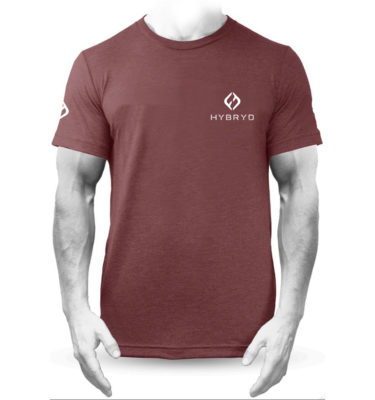 Mens Tri-blend Icon T - Burgundy