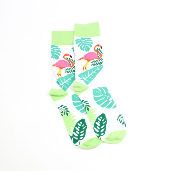 Lucky Pair Socks - Flamingo & Palm