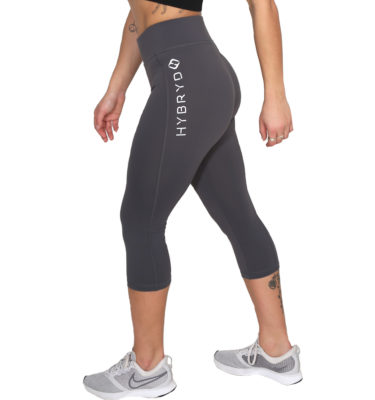 Hybryd Fitness Crop Legging - Graphite
