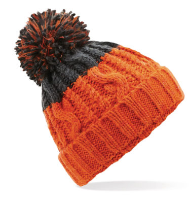 Alpine Beanie Orange/Grey