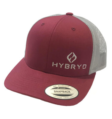 Hybryd Icon Trucker Snapback - Burgundy
