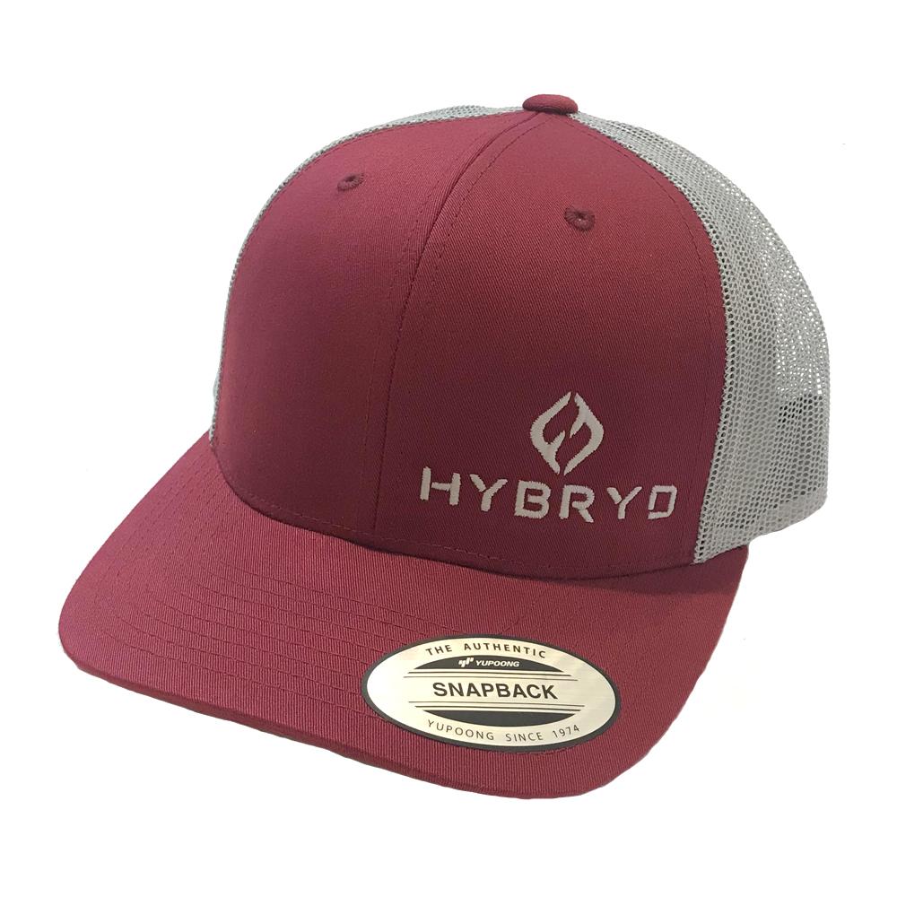 Hybryd Icon Trucker Snapback - Burgundy