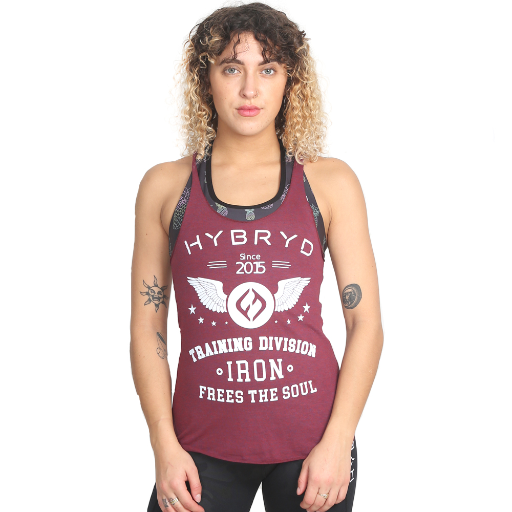 Hybryd Free Soul vest - Burgundy