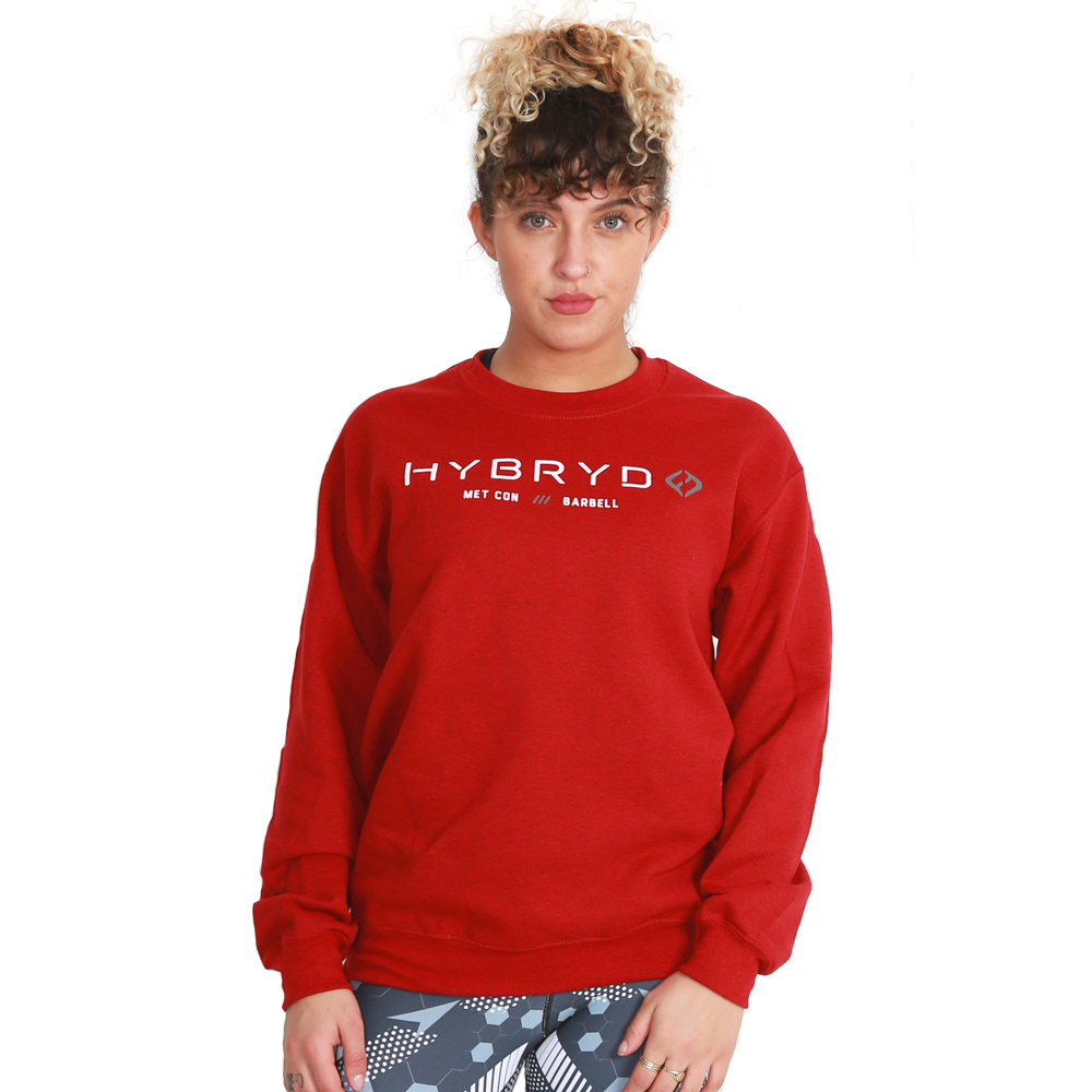 Hybryd Ladies Logo MCB Crew - Red
