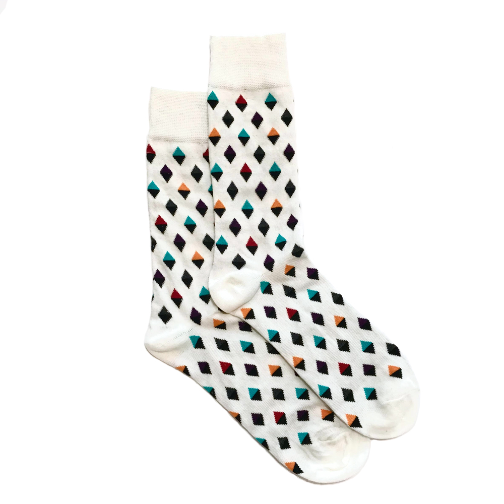 Lucky Pair Socks - Diamonds