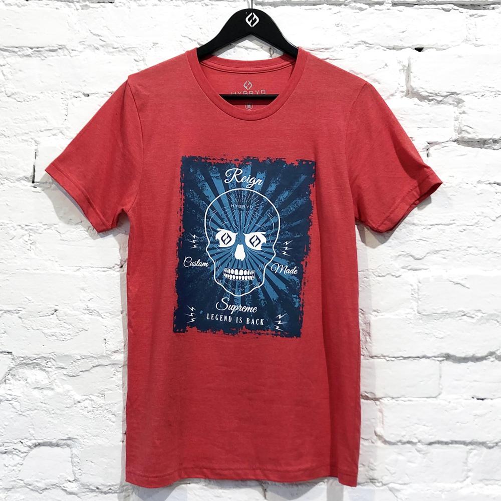 Mens Tri-blend Skull T-shirt