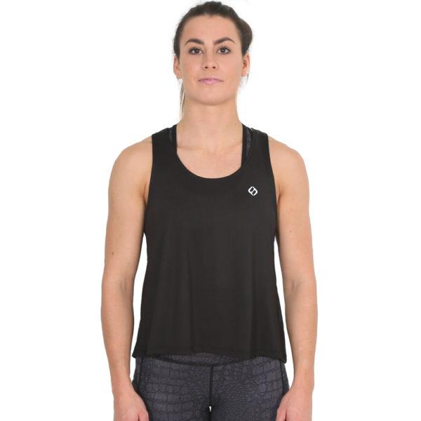 Hybryd Split Vest - Black