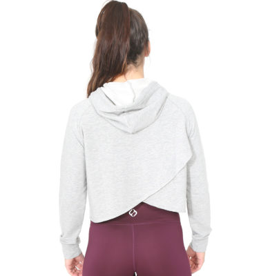 Hybryd Stretch Split back Hood - Grey