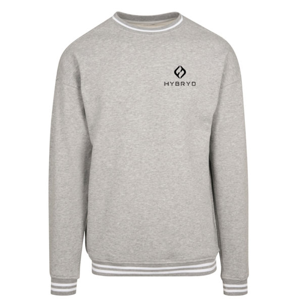 Mens Icon College Crew Heather Grey