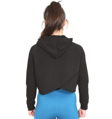 Hybryd Stretch Split back Hood - Black
