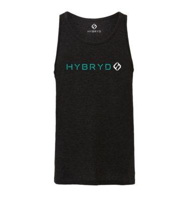 Hybryd Tri-Blend Muscle Tank - Black