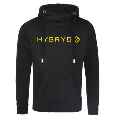 Hybryd Unisex Snug Hood - Black