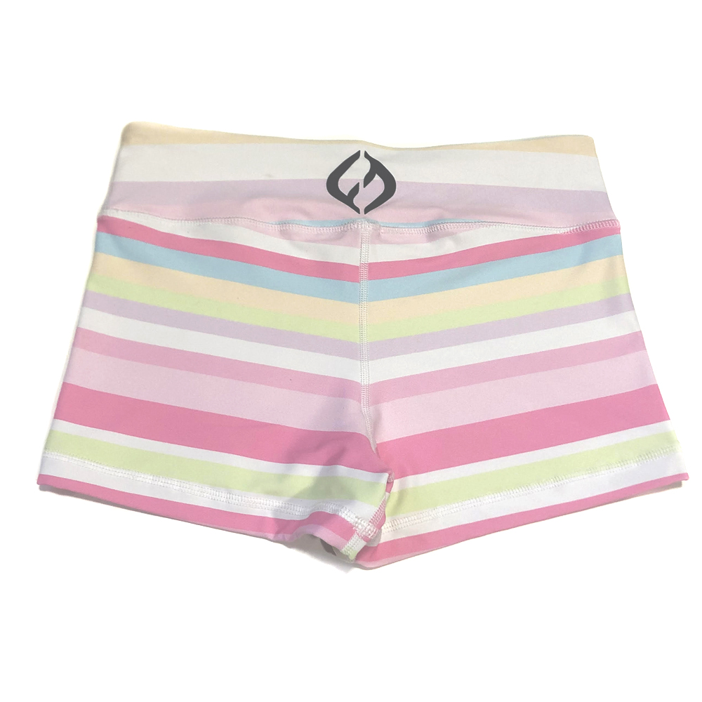 Hybryd Valhalla Booty Short - Pastel Stripe